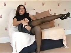 Hot Mature MILF in Stockings