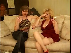 Classic Hot Aged Cougars Foursome