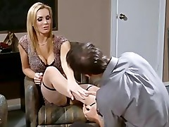 Tanya Tate Gives A Nylon Footjob And Gets Screwed Hard