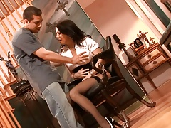 Daddys New Girlfriend Gets Pounded By Step-Son