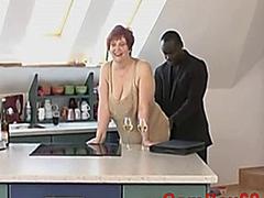 German Shorthair-Redhead BBW-Granny fucked by Black Guy