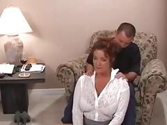 mature, fingering, masturbation, redhead, big boobs