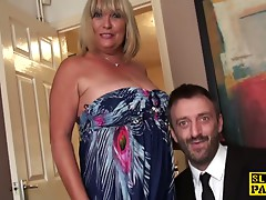Large british s&m broad squirts during fucking