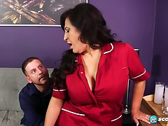 50+ MILF Victoria Versaci  Maid Works For Sex