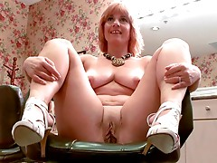 Calliste Garnet, a 50-year-old housewife from Las Vegas, Nevada, arrives at 50PlusMILFs.com ready for action. That means shes wearing a sexy dress and no panties (as we find out in the opening minutes of this video). Turns out she just flew in from Vegas,
