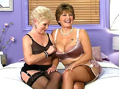As a prelude to their first-ever BGG threesome together, Jewel, 63, and Bea Cummins, 68, sit down for an interview. The ladies look spectacular in bras, panties, stockings and garters as they discuss this historic, much-anticipated, much-requested pairing