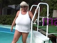 Crazy chubby busty grandma