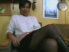 Mature German Woman Fucking Herself