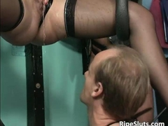 Kinky and fetish action with slave