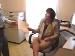 MILF Boss Fucks Her Assitant