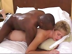 Black man drilling mature from behind
