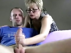 Wild cougar is sucking a dick
