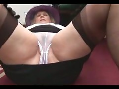 Busty Hairy Granny in Stockings by TROC
